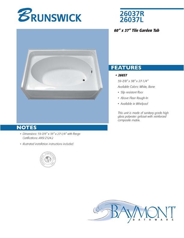 Baymont Bathware Catalog