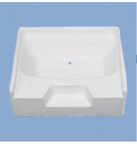 "2210 Providence 60"" Garden Tub with Step"