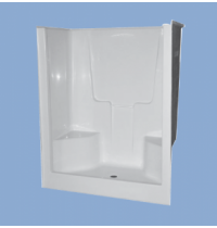 "3309 Becker 60"" Two Seat Shower"