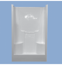 "3347 Richland 48"" Two Seat Simulated Tile Shower"