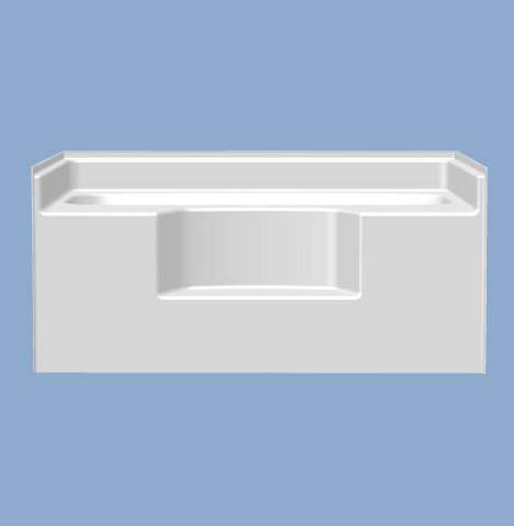 "2240 Bella 54"" Garden Tub with Step"