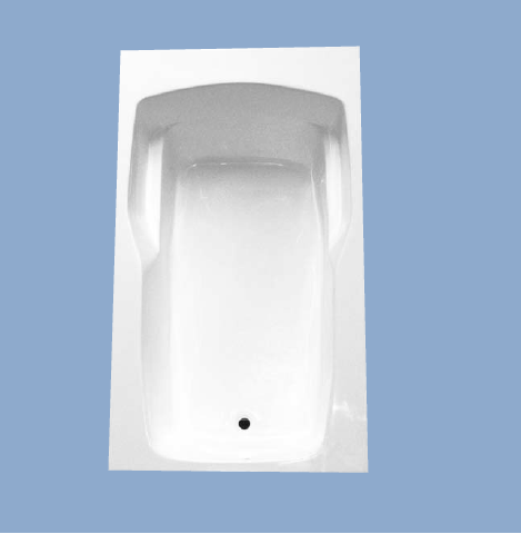 novella 72 x 42 rectangle drop in tub with arm rest
