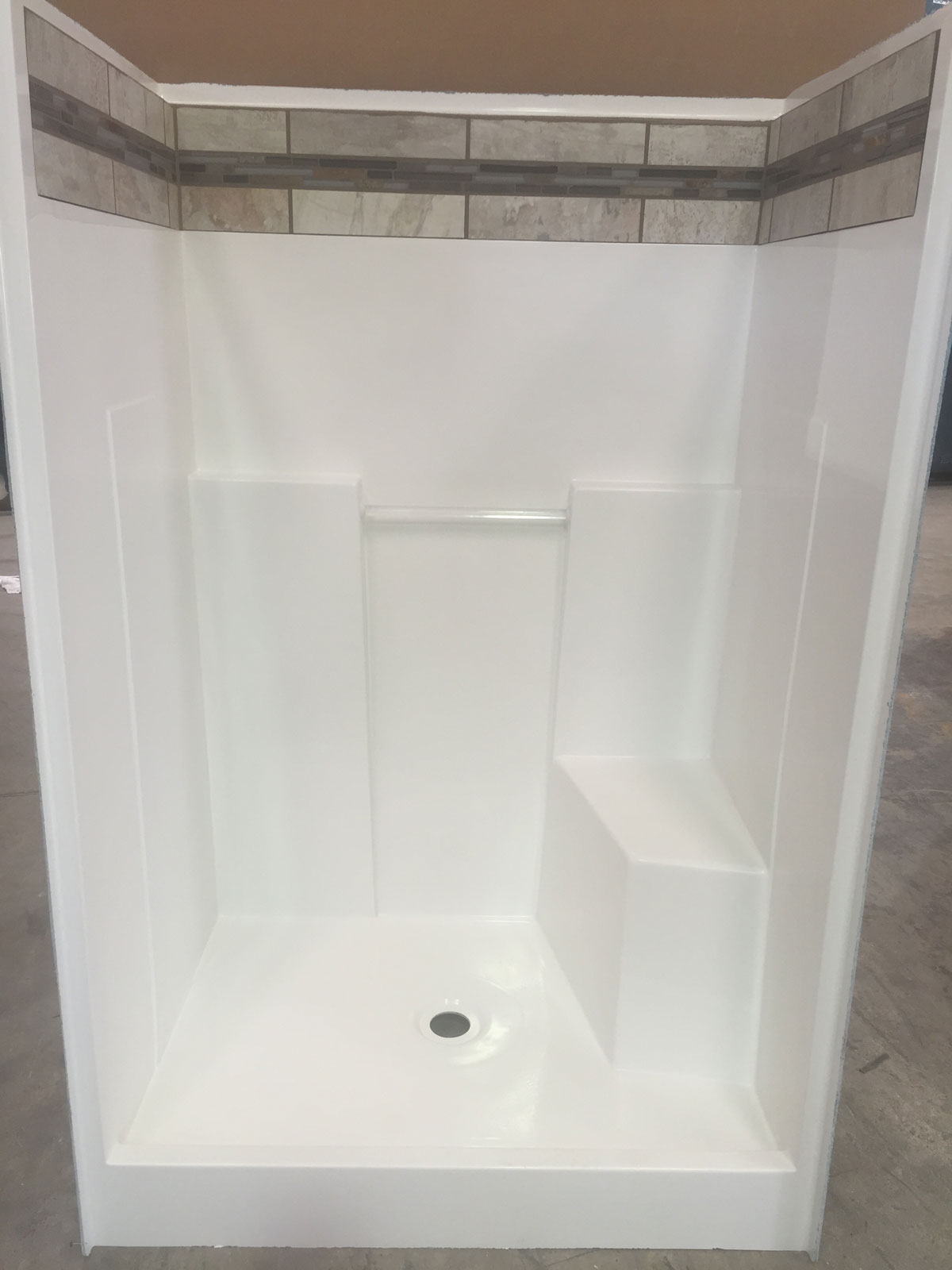 48r Hybrid 48 Quot One Piece Shower Baymont Bathware